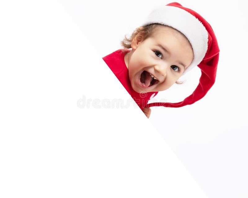 Urocza dziewczynka uśmiecha się na święta fotografia stock