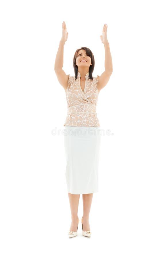 Urocza kobieta w przypadkowych ubraniach obrazy stock