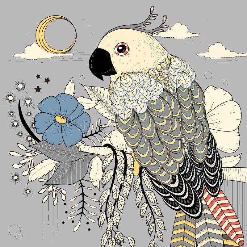 urocza papuga ilustracja wektor