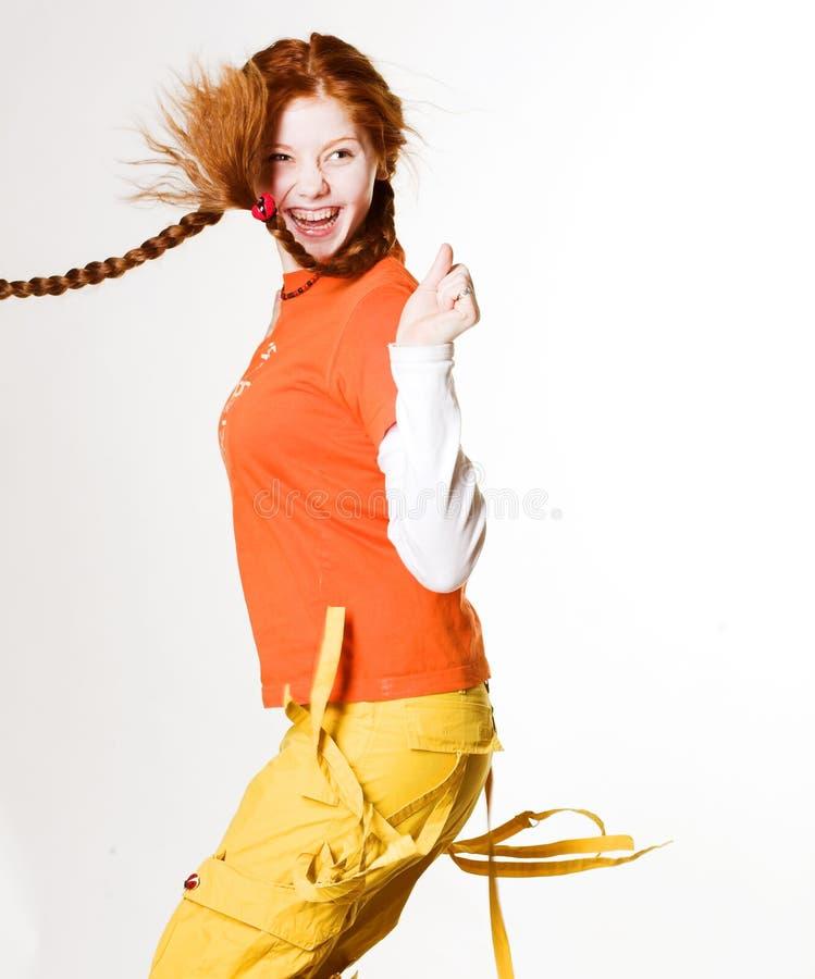 urocza rudą dziewczynę zdjęcia royalty free