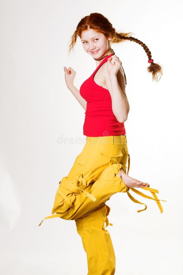 urocza rudą dziewczynę zdjęcia stock