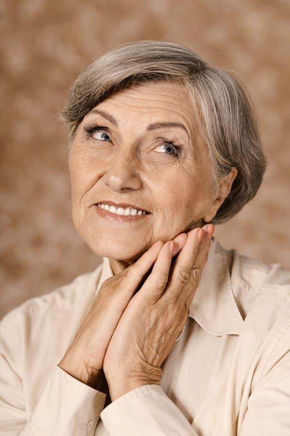 Urocza starsza kobieta zdjęcie stock
