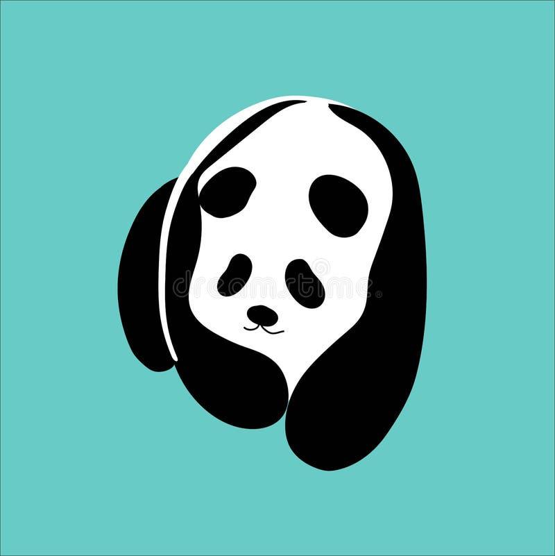 Urocza wektorowa panda ilustracji