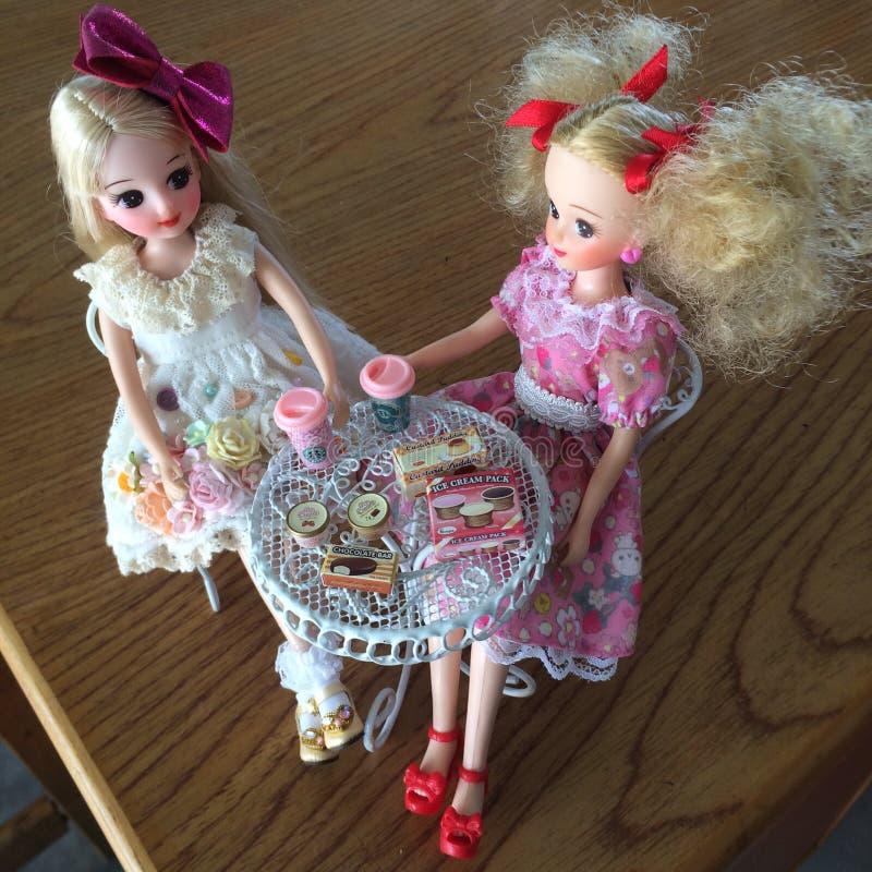 Urocze Japońskie lale zwany LICCA Chan zdjęcie stock