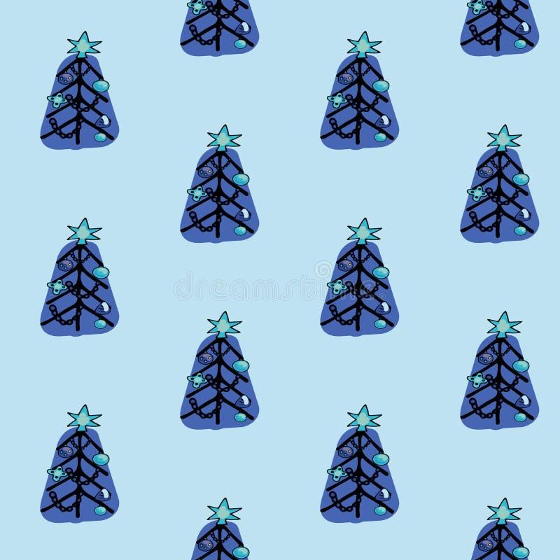 Uroczego bożych narodzeń i nowego roku pojęcia bezszwowy wzór dla zima wakacji ornamentów w jaskrawych kolorach Elegancka zima royalty ilustracja