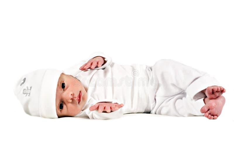 uroczego dziecka urodzony nowy słodki biel fotografia stock
