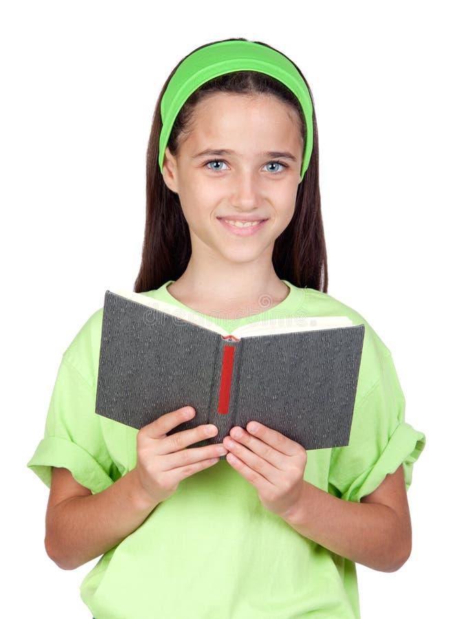 uroczej książkowej dziewczyny mały czytanie zdjęcia stock