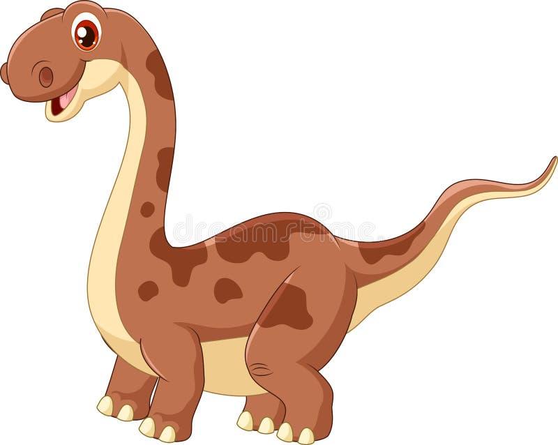 Uroczy śliczny dinosaur ilustracja wektor