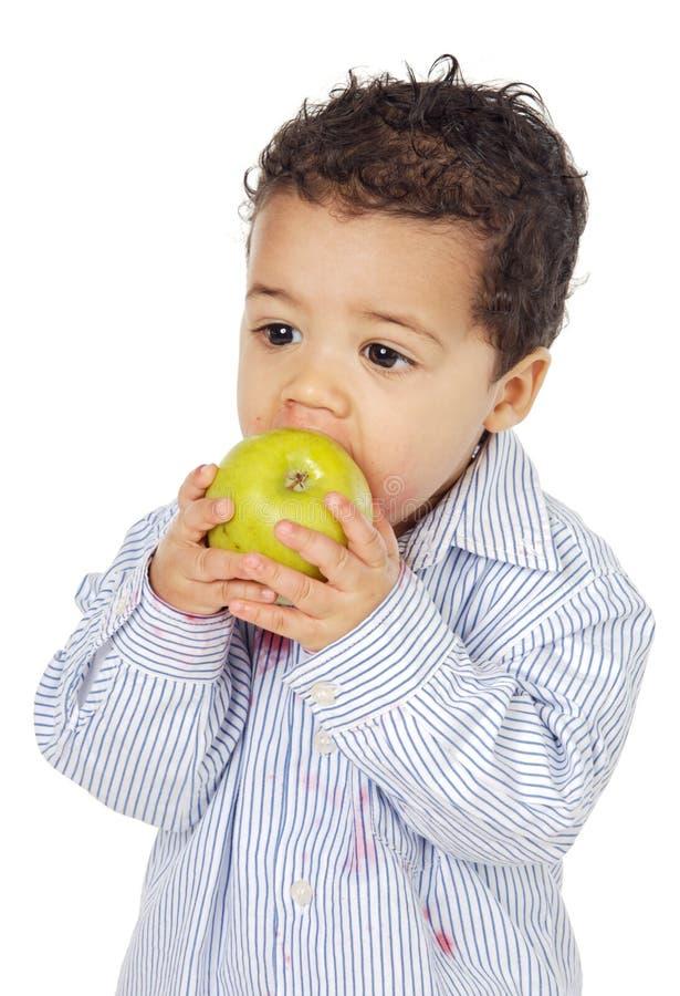 uroczy apple dziecko jedzenie fotografia royalty free