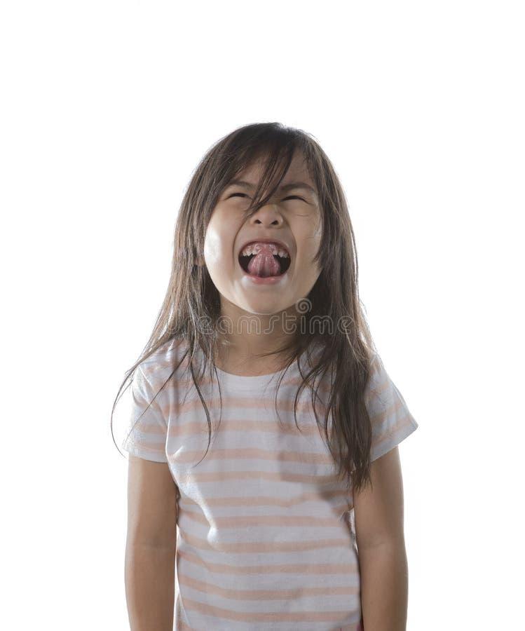 Uroczy azjatykci dzieci bawić się twarz obraz royalty free