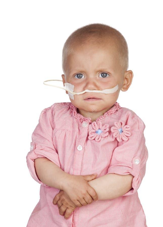 Uroczy dziecko bije chorobę obrazy stock