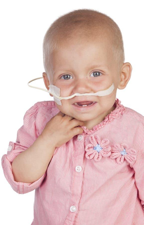 Uroczy dziecko bije chorobę zdjęcia royalty free