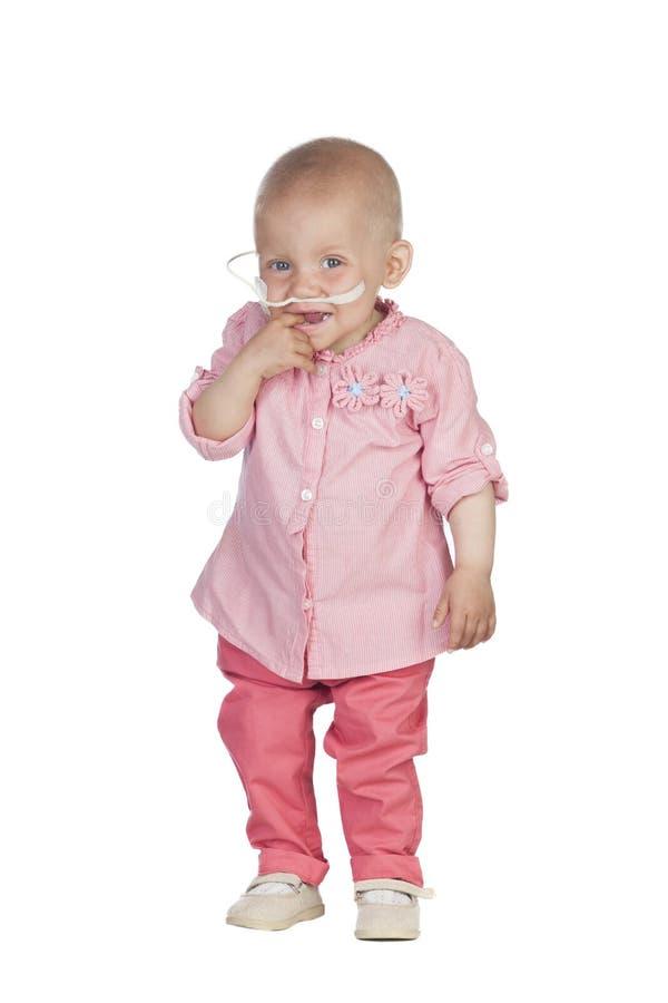 Uroczy dziecko bije chorobę zdjęcie stock