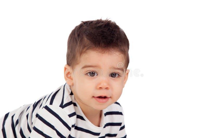 Uroczy dziecko dziewięć miesięcy zdjęcie royalty free