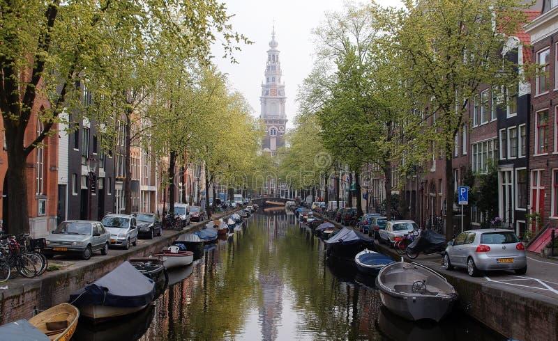 Uroczy kanał w Amsterdam fotografia royalty free