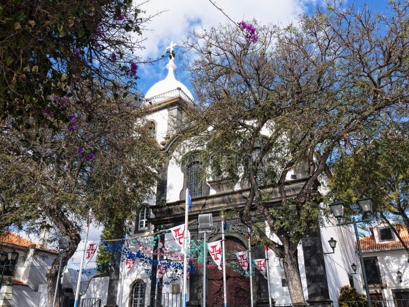 Uroczy kościół Santa Maria w Funchal na wyspie madera Portugalia obraz royalty free