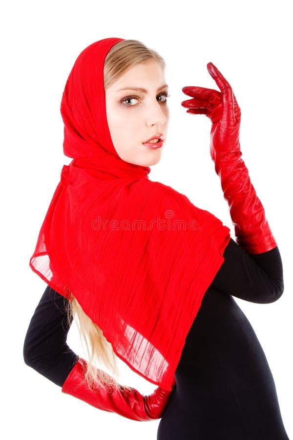 uroczy piękni dziewczyny czerwieni potomstwa zdjęcie royalty free
