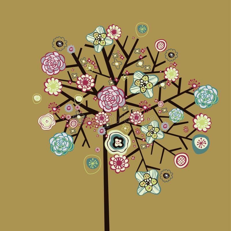 uroczy projekta drzewo royalty ilustracja