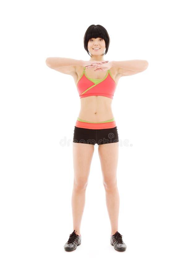 uroczy sprawność fizyczna instruktor zdjęcie stock