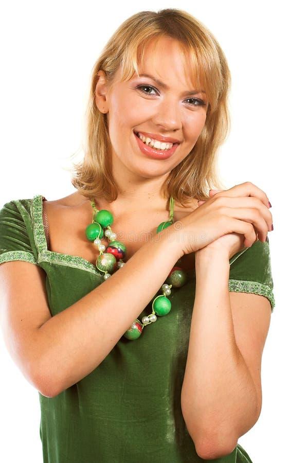 uroczy uśmiech piękna kobieta obraz stock