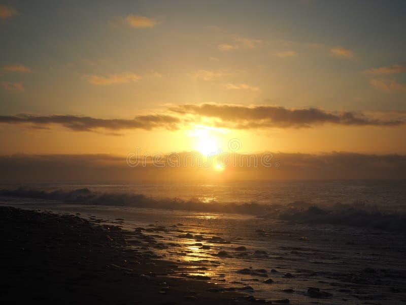 Uroczy wschód słońca zdjęcie royalty free