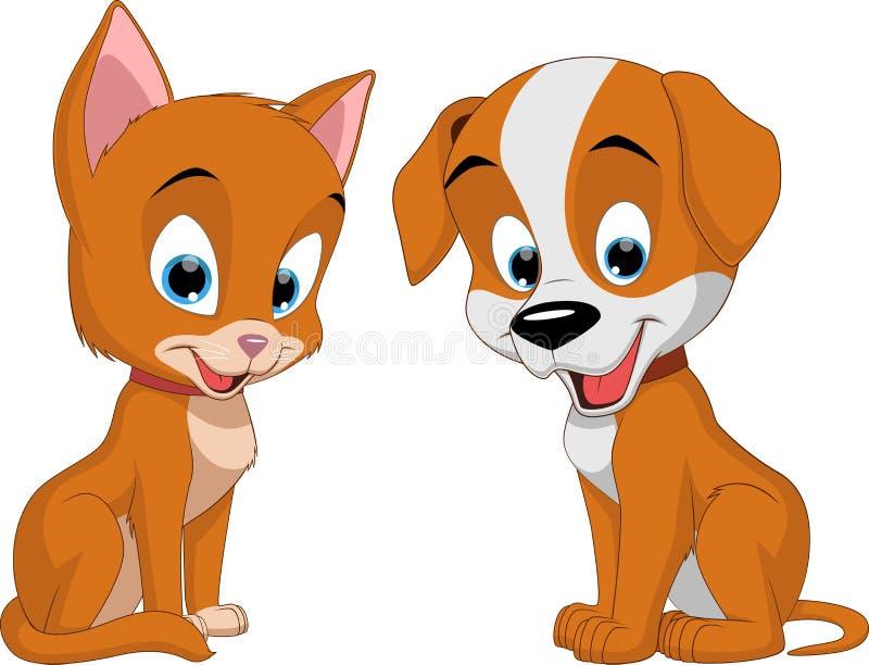 Uroczy zwierzęta domowe ilustracja wektor