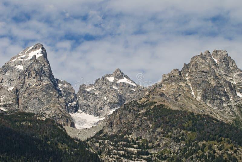 uroczysta góra osiąga szczyt teton zdjęcie royalty free