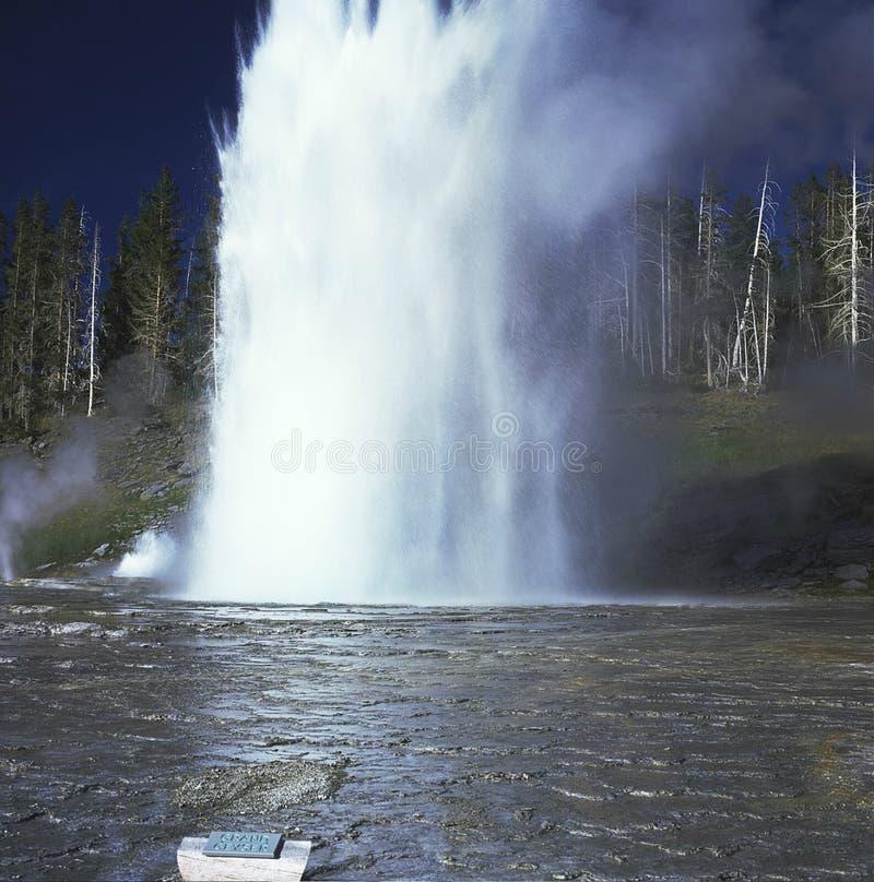 Uroczysta gejzer ekscerpcja - Yellowstone park narodowy fotografia royalty free