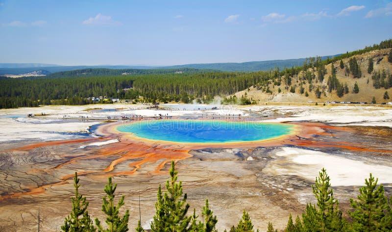 Uroczysta Graniastosłupowa Gorąca wiosna w Yellowstone obraz royalty free