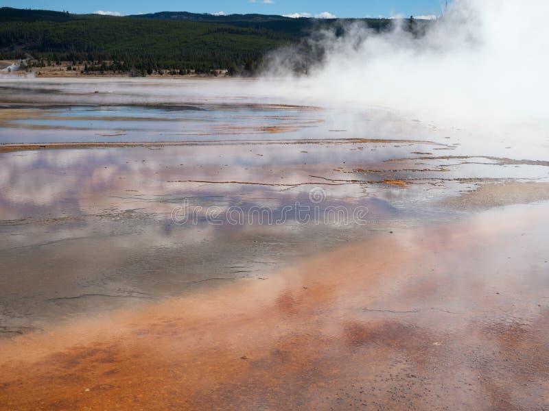 Uroczysta Graniastosłupowa wiosna w Yellowstone parku narodowym zdjęcie royalty free