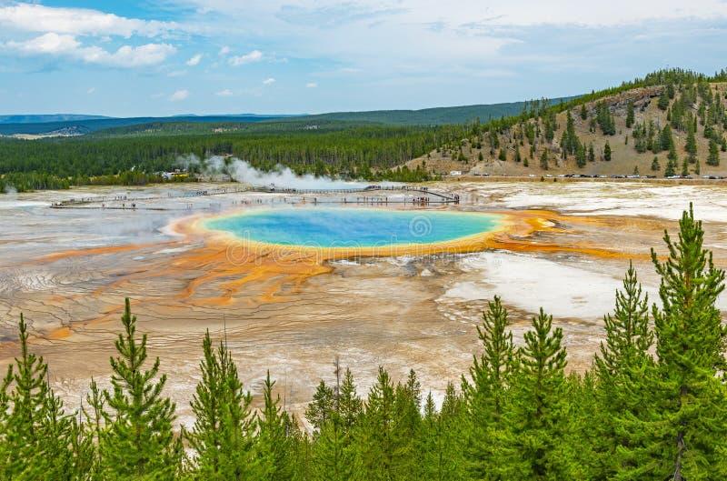 Uroczysta Graniastos?upowa wiosna, Yellowstone, Wyoming zdjęcia stock