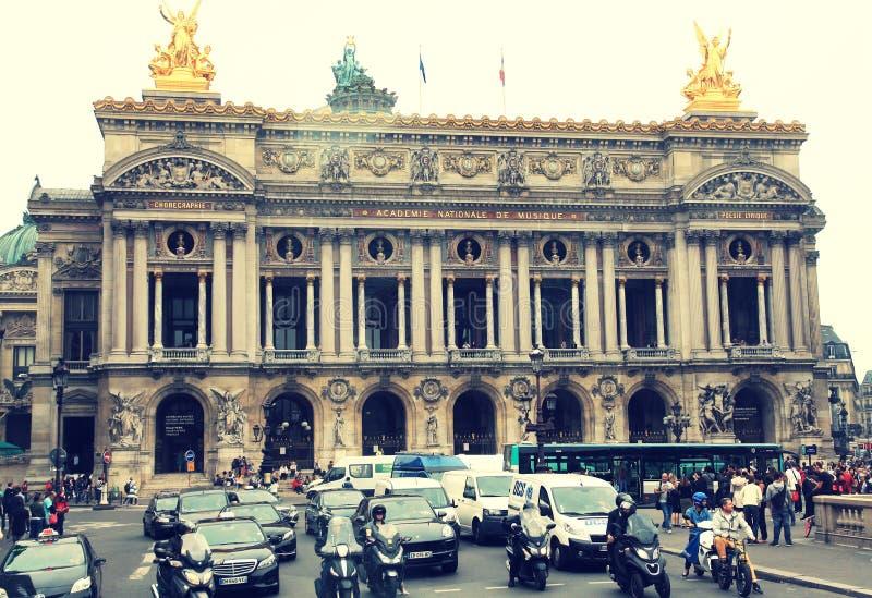 Uroczysta opera w Paryż zdjęcia royalty free