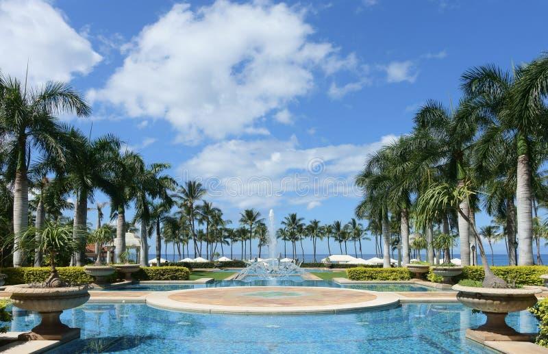 Uroczysta Wailea fontanna, Maui fotografia stock