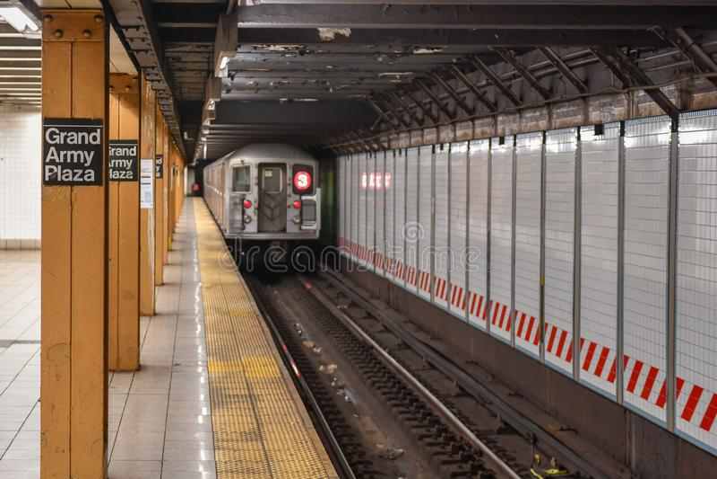 Uroczysta wojsko placu stacja metru - Miasto Nowy Jork zdjęcia royalty free