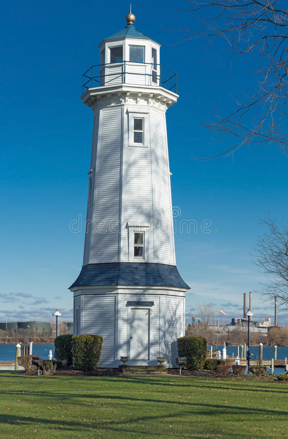Uroczysta wyspy Front Range latarnia morska, Nowy Jork fotografia royalty free