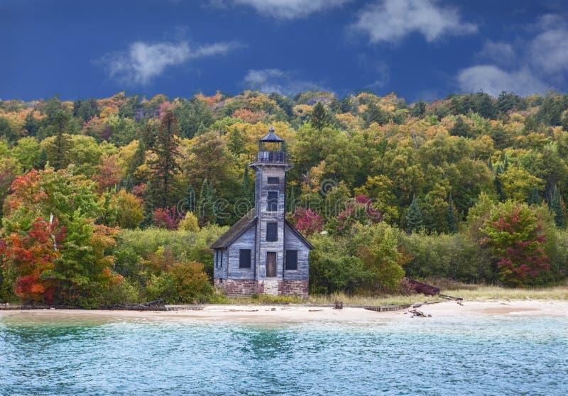 Uroczysta wyspy latarnia morska zdjęcie stock
