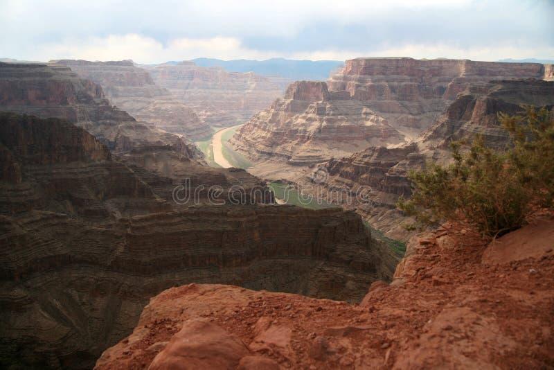 Uroczystego jaru i Kolorado rzeka, park narodowy, Arizona, usa zdjęcie stock