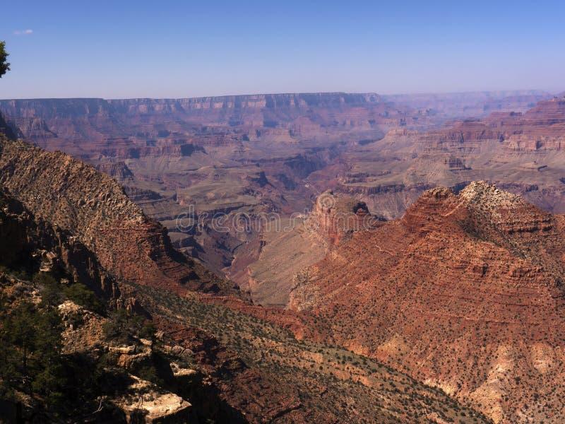 Uroczystego jaru park narodowy od Południowego obręcza w Arizona obraz royalty free