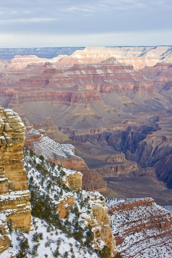 Uroczystego jaru park narodowy w zimie, Arizona, usa zdjęcie stock