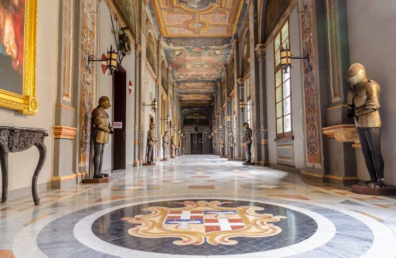Uroczystego mistrza pałac w Valletta, Malta fotografia royalty free