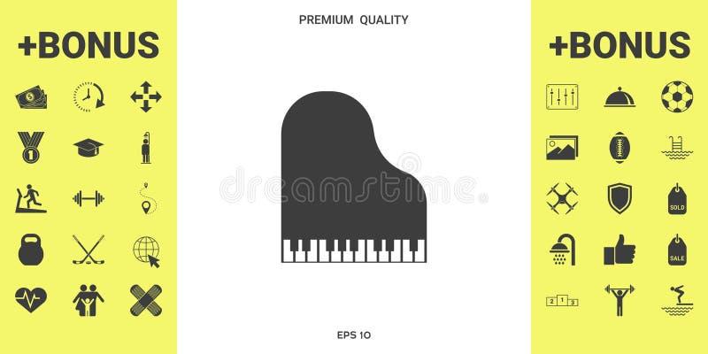 Uroczystego pianina ikona ilustracji