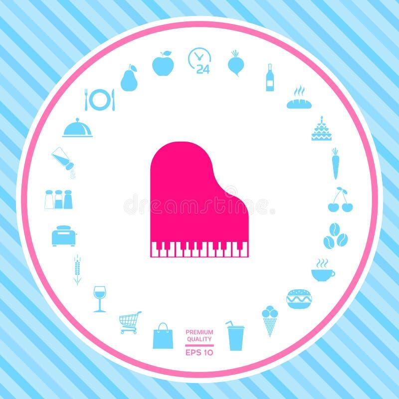 Uroczystego pianina ikona royalty ilustracja