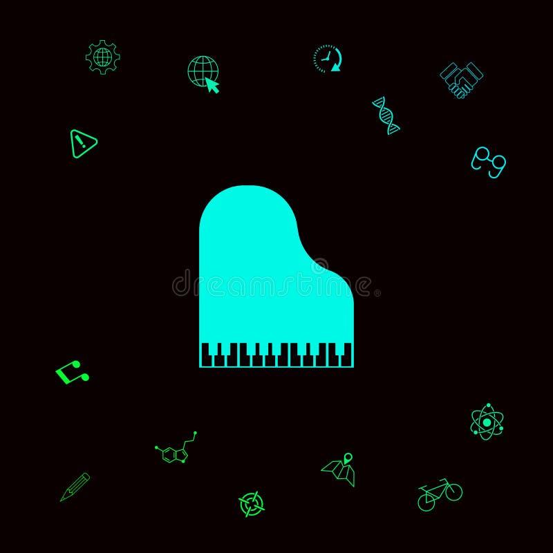 Uroczystego pianina ikona Graficzni elementy dla twój designt royalty ilustracja
