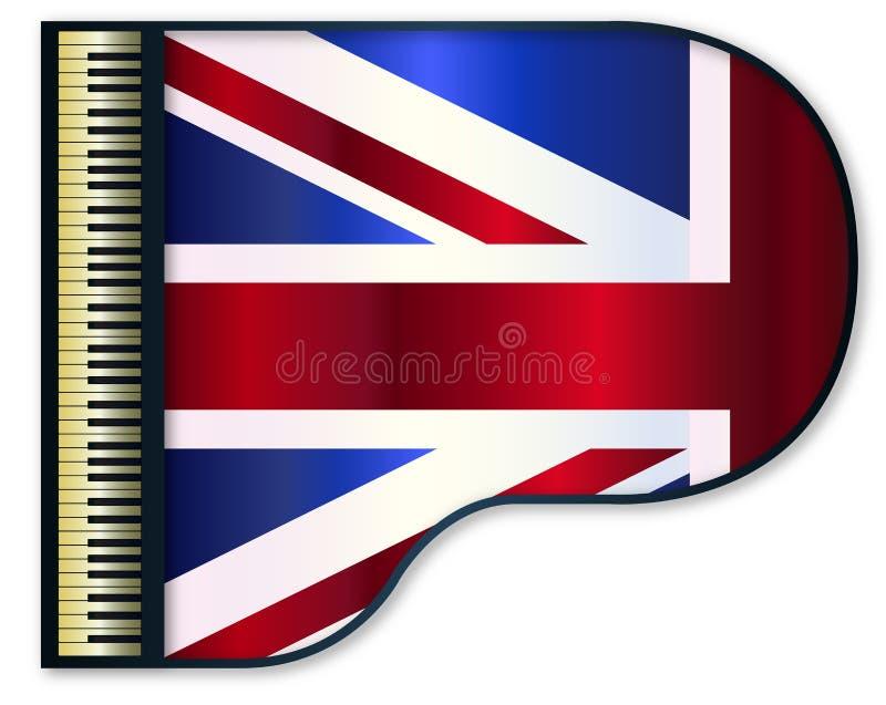 Uroczystego pianina Zjednoczone Królestwo flaga ilustracja wektor
