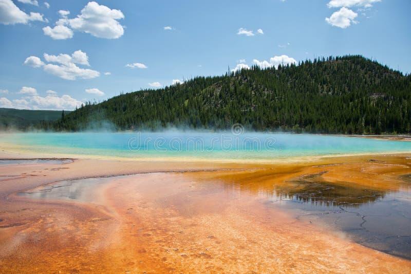 uroczystego szczytu park narodowy obrazka graniastosłupowa wiosna brać Yellowstone obraz stock