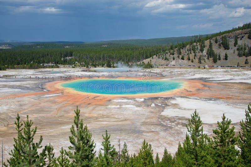 uroczystego szczytu park narodowy obrazka graniastosłupowa wiosna brać Yellowstone obraz royalty free