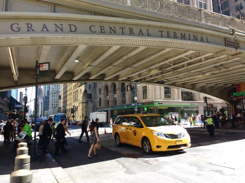 Uroczysty Środkowy Terminal, Uroczysta centrali stacja, Park Avenue wiadukt, Pershing kwadrata wiadukt, Miasto Nowy Jork, NYC, NY fotografia royalty free