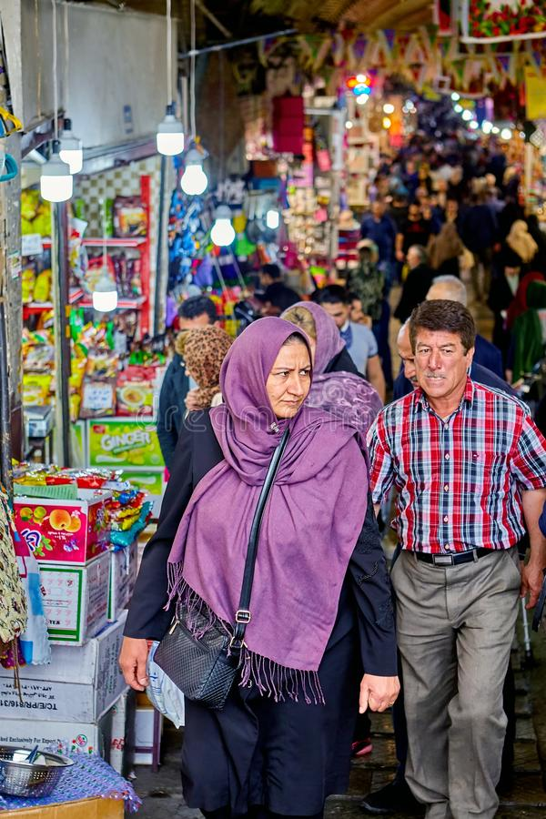 Uroczysty bazar w Islamskiej republice Iran, Teheran fotografia stock
