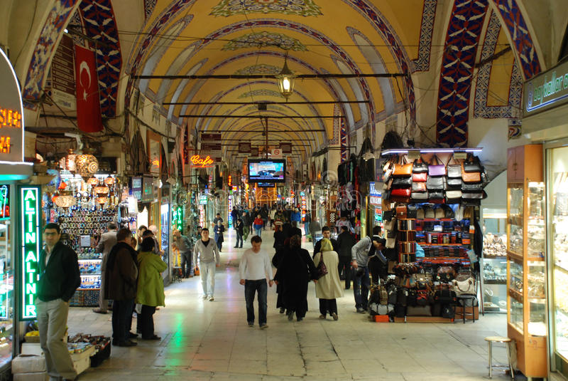 Uroczysty bazar w Istanbuł zdjęcie stock