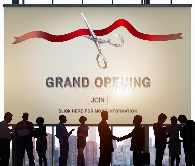 Uroczysty ceremonia otwarcia biznes Łączy pojęcie royalty ilustracja